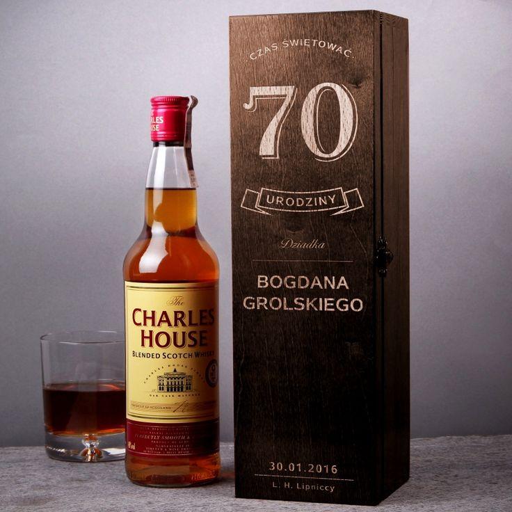 Skrzynka personalizowana na whisky URODZINY