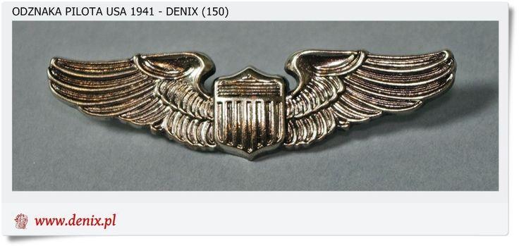 Wojskowa odznaka PILOTA USA - 1941 r. Denix 150