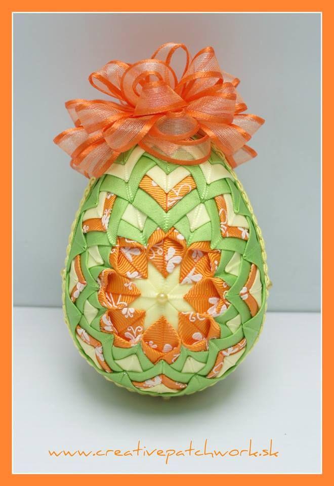 Veľkonočné patchworkové vajíčko 10 cm