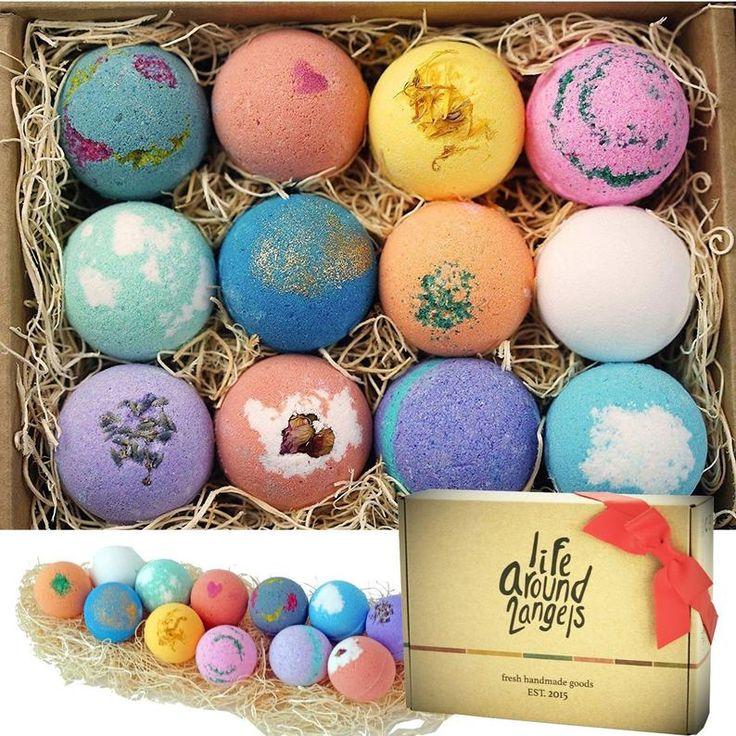 Bath bomb gift set shea coco butter dry skin moisturizer