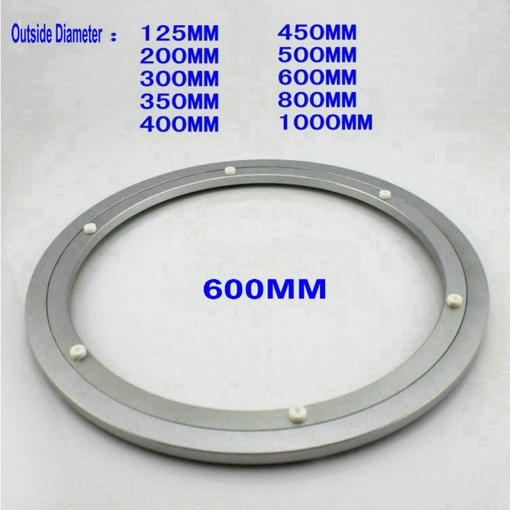 Comercio al por mayor de Diámetro Exterior 600 MM (24 Pulgadas) Calma y Suave Sólido de Aluminio Lazy Susan Teniendo la Placa Giratoria Placa Giratoria