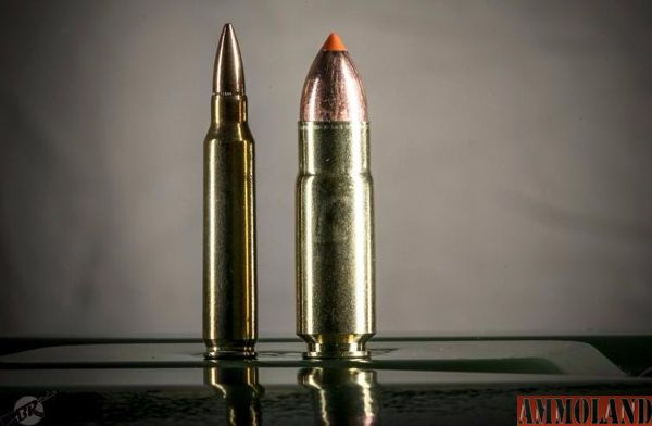 Comparison of 5.56 and .458 SOCOM Rounds