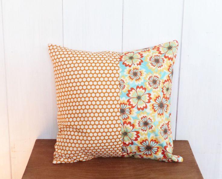 Housse de coussin 40 x 40 cm patchwork de tissus motif for Housse de coussin patchwork