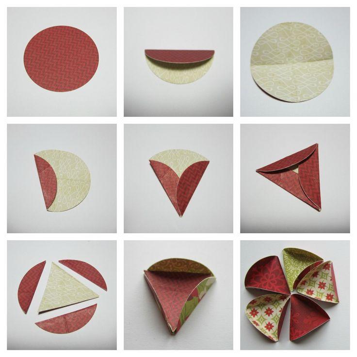 """Workshop Papieren Kerstbal     Benodigde materialen :     stevig """"kerst"""" papier   iets waar je cirkels mee kan snijden/stansen   lijmpisto..."""