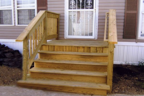 small porch plans | Steves Manufactured Home Service Center Custom Built Decks