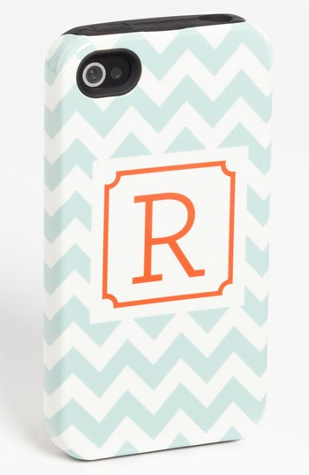 I'm contemplating springing for an iphone 5 instead of a 4s when my contract is up just because these monogrammed cases from Nordstrom are so cute!