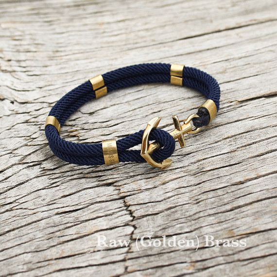 Nautical sailor's anchor bracelet  New Haven by byMarisSal on Etsy, $28.00