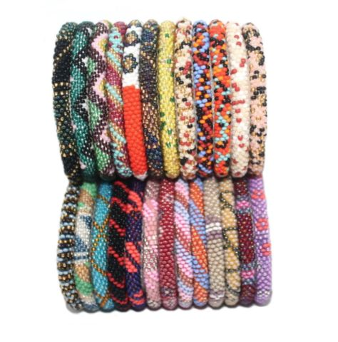 Random Sets Of 12 multi Color Bracelets Nepal bracelet Roll On Bracelet Friendship bracelet