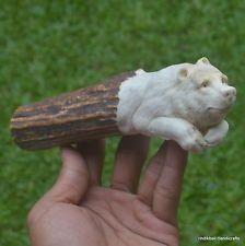 Bear Carved Handle 167mm in Deer Antler Bali Carving SH65