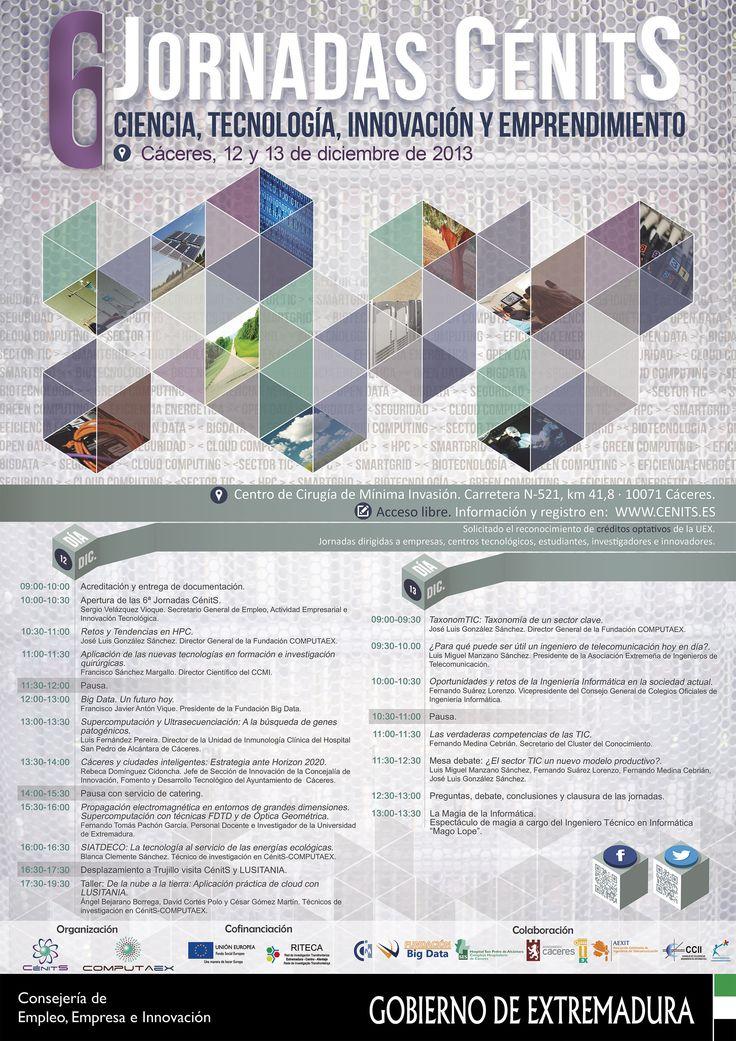 Cartel jornadas CénitS celebradas en Cáceres