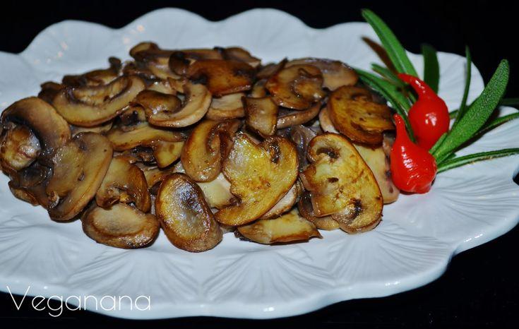 Cogumelos Salteados - Veganana