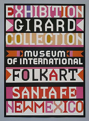 Alexander Girard Designed Original Poster for Folk Art Collection #2 NOS