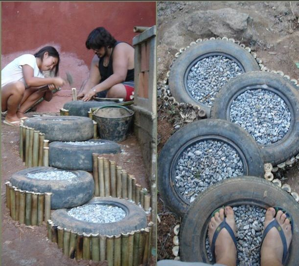 221 best tire recycling images on pinterest - Garden ideas using old tires ...