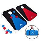 Himal Portable Assemble PVC Framed Corn Hole Outdoor Game Set with 8 Bean Bags and Carrying Case (3 x 2-feet)