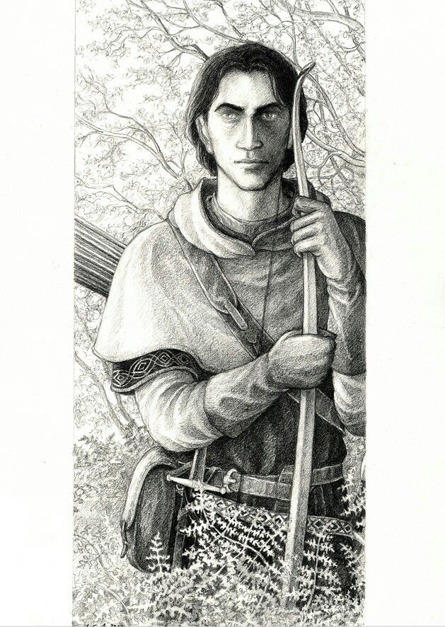 Faramir, by Anke-Katrin Eiszmann. Similar to how I imagined Faramir.