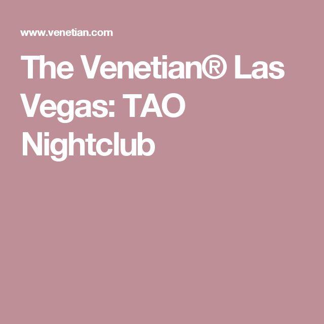 The Venetian® Las Vegas: TAO Nightclub