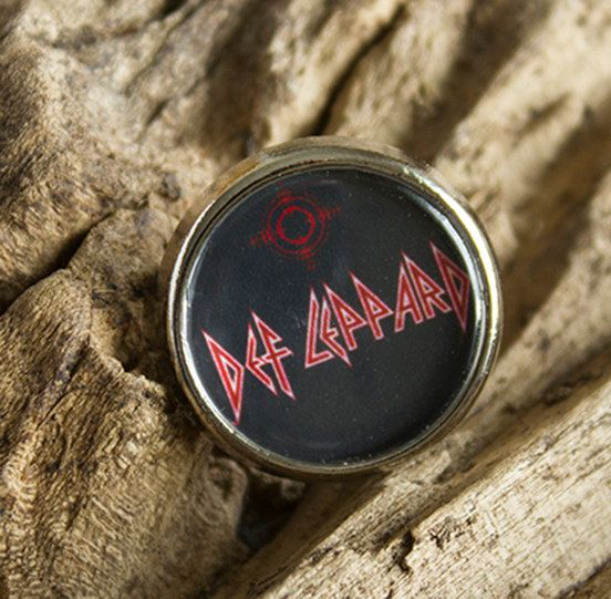 Cool Def Leppard Round Lapel pin/ pin badge by WeeHings on Etsy
