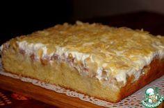Нежнейший пирог с персиками и грушей.