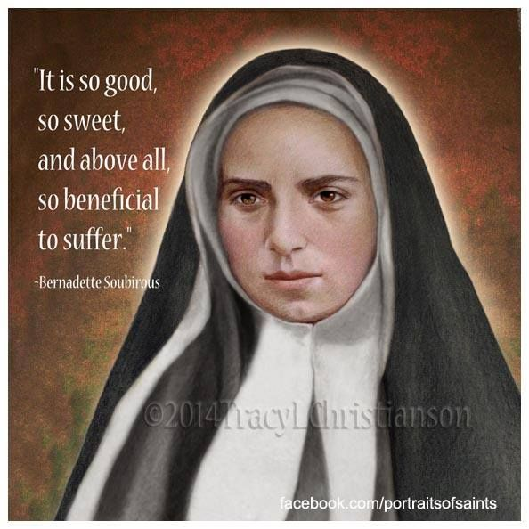 St. Bernadette's body is incorrupt and beautiful to this day.