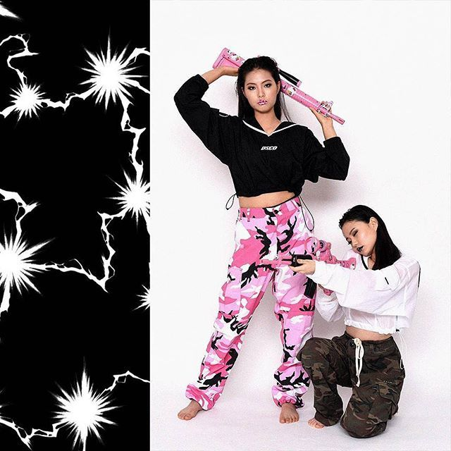TEAM The KYO - Pink Squad graphic design @____xir____ photography @__jinkim__ directing @gimeunbee mua & hair @luckysevenb @d_deaw_d @myssongg model @river__is @yujeong1524 clothes @drinkscancode #fashion #photography #makeup #camo #camouflage #girl #model #lips #photographer #designer #visual #artist #stylist #creator #creative #team #the #kyo #teamthekyo #drinkscancode #gun #pink #squad #mood