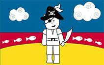 Jogos de pintar online para crianças: Pirata