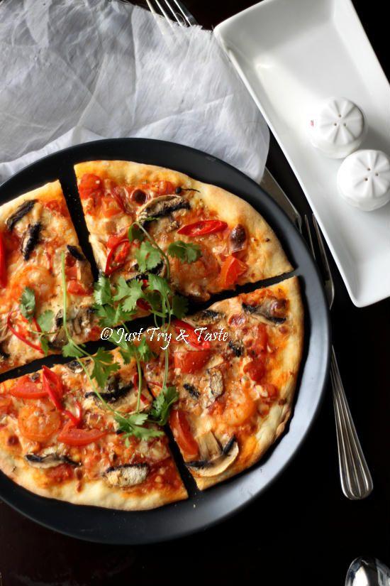 Just Try & Taste: Resep Vegetarian Pizza Jamur dengan Simple Sauce