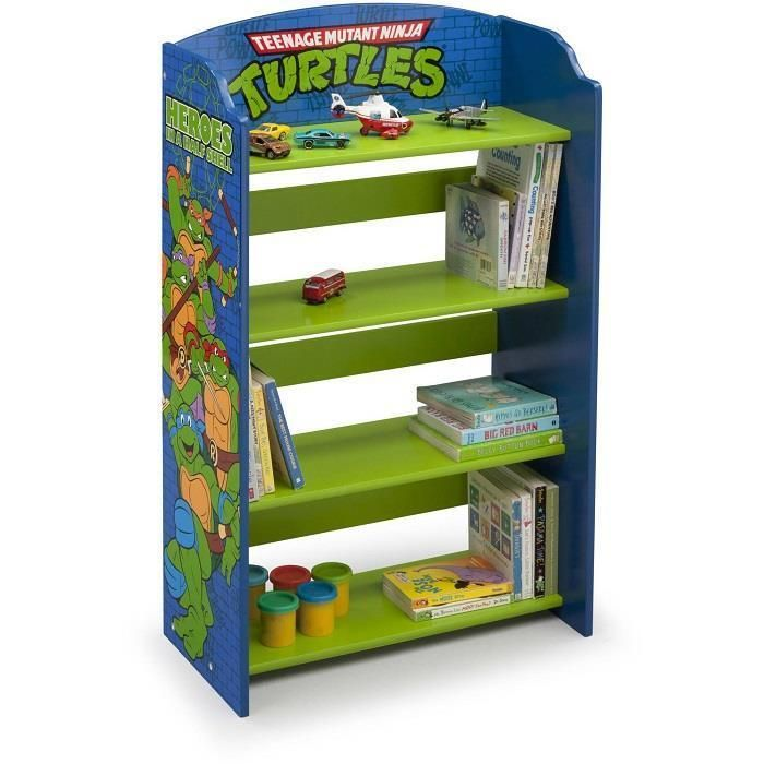 Bookshelf 4 Shelf Teenage Mutant Ninja Turtles Bookcase Kids Bedroom Storage New | Home & Garden, Kids & Teens at Home, Furniture | eBay!