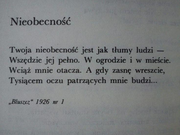 Maria Pawlikowska-Jasnorzewska - Nieobecność