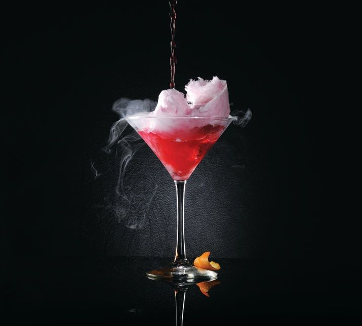 Cotton Candy Cosmo -  A perfect idea for a signature cocktail.