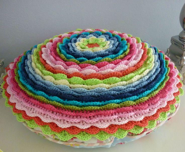 Knoopjesz Haken Bloem Kussen Haken Kusseninspiratie Crochet