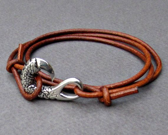 Silver Dragon Claw wrap Bracelet  Stainless steel Mens by GUSFREE
