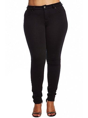 Womens Ladies Plus #Sizes Curvy #Booty Basic Classy Jeggings Pants P1220X (3XL, Black) Made by #Dress Me Up Color #Black. 95% Cotton. 5% Spandex. Made in China. Model is Wearing size XL. Please feel free to give us a call if you have any questions at (323)717-5632