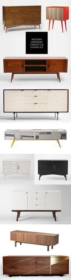 Modern Furniture: Dressers, Cabinets and Consoles