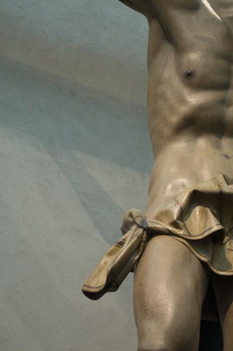 Gestas, el mal ladrón. Gregorio Fernández. Siglo XVII