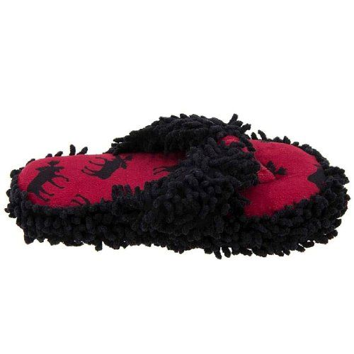 Lazy One Moose Thong Slippers for Women -  	     	              	Price:              	View Available Sizes & Colors (Prices May Vary)        	Buy It Now      • Thong style slippers • Moppy-type upper material • Thick, cushioned soles • Size S/M = girl's youth shoe size 1 to 4 • Size L/XL = women's shoes size 5 to 9   Comfortable, La...