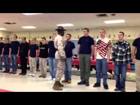 Omar, one of Daniel's best-friends, is a former Marine Drill Instructor. When you read about him and how his voice is blown out from screaming, this how it sounds. :)
