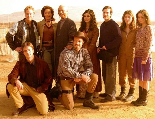 #Firefly cast shot behind the scenes shooting the episode 'Heart of Gold' (via http://photos.summer-glau.com/displayimage.php?album=278&pos=-74280)