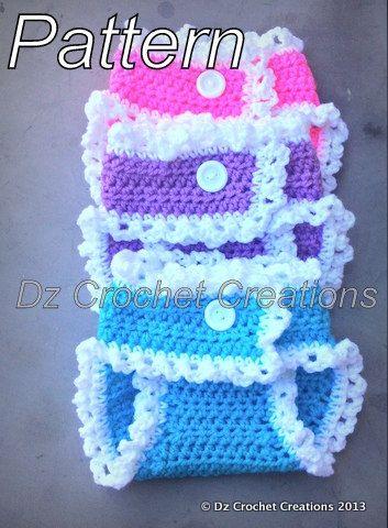 Crochet Diaper Cover Pattern, Crochet Photo Prop Pattern, Diaper Cover pattern, Diaper cover with ruffles pattern, Crochet Pattern, Crochet