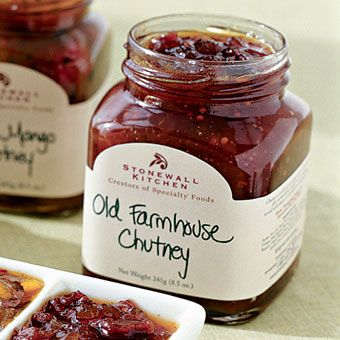 Stonewall Kitchen Old Farmhouse Chutney. Sweet and savory and yummy on baked brie!