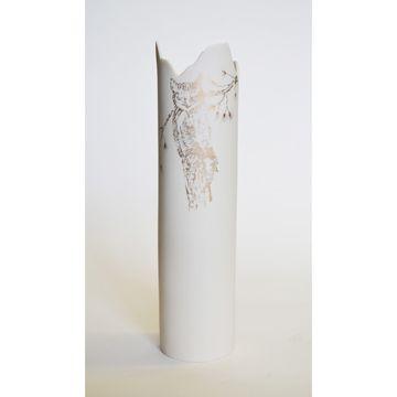 owl jagged vase