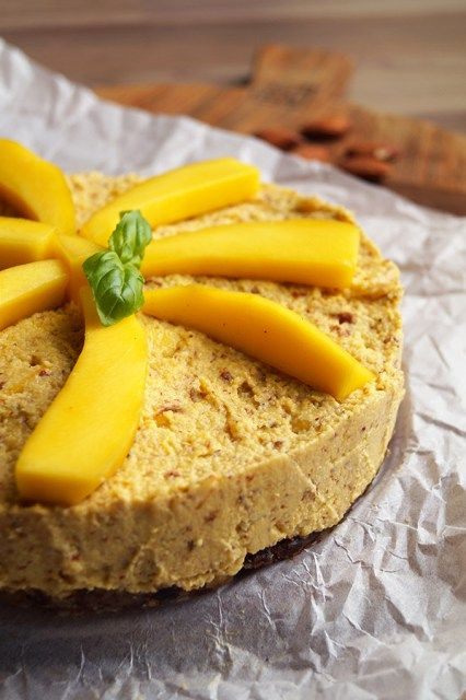 healthy cheesecake mango glutenvrij
