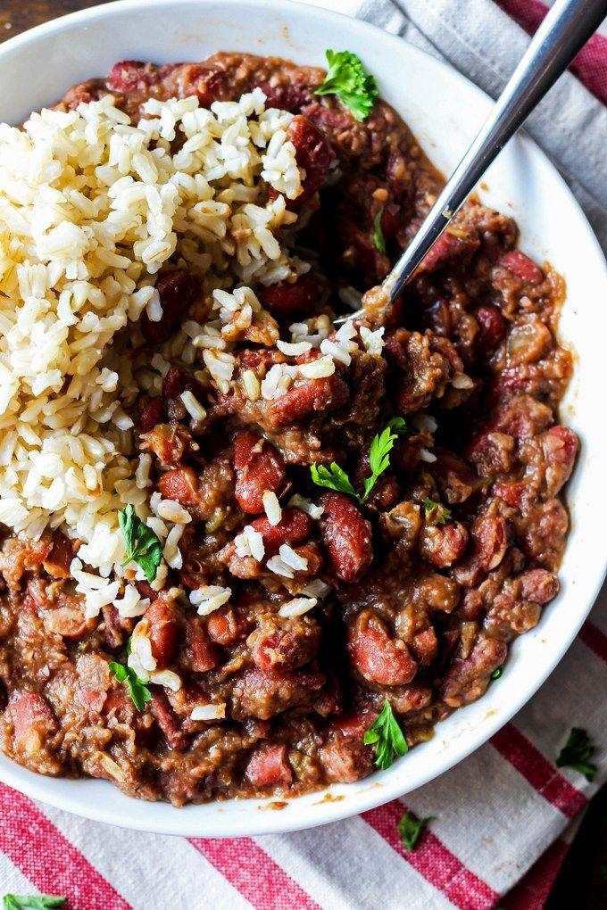 Cajun Style Vegan Red Beans And Rice Recipe Recipes With Kidney Beans Red Beans Recipe Rice Recipes Vegan