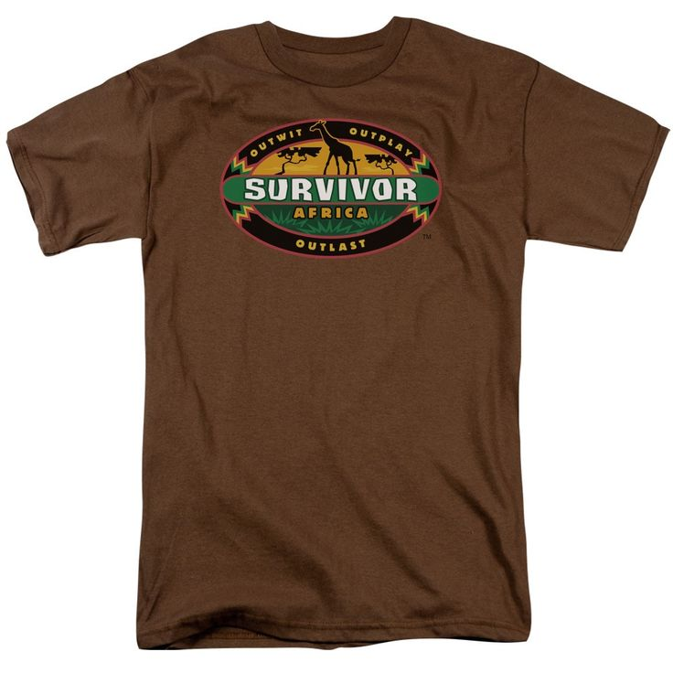 Survivor/Africa Short Sleeve Adult T-Shirt 18/1 in Coffee