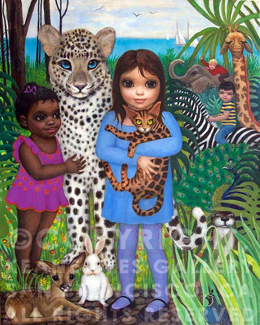 """by Margaret Keane. I saw the movie """"Big Eyes"""" with some very good friends. What a woman she is!! You go girl. Still painting!"""