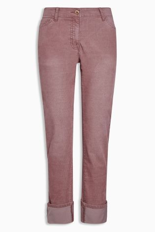 Buy Pink Cord Turn-Up Trousers from Next Czech Republic