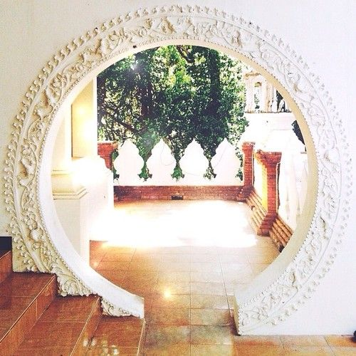 Circle arch into a prayer/relaxation room