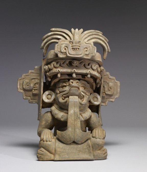 """Effigy Urn of Cocijo-Ancient America's-""""Zapotec"""" AD 300-600 (Early Classic)-Mexico............"""