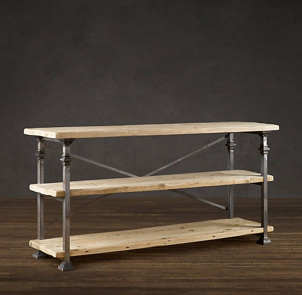 Baker 39 S Rack Console Restoration Hardware I Think My Husband Would Like This Pinterest
