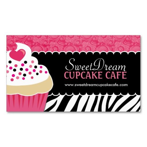 59 best cartas images on pinterest backgrounds bakery business funky zebra print cupcake bakery business cards reheart Image collections