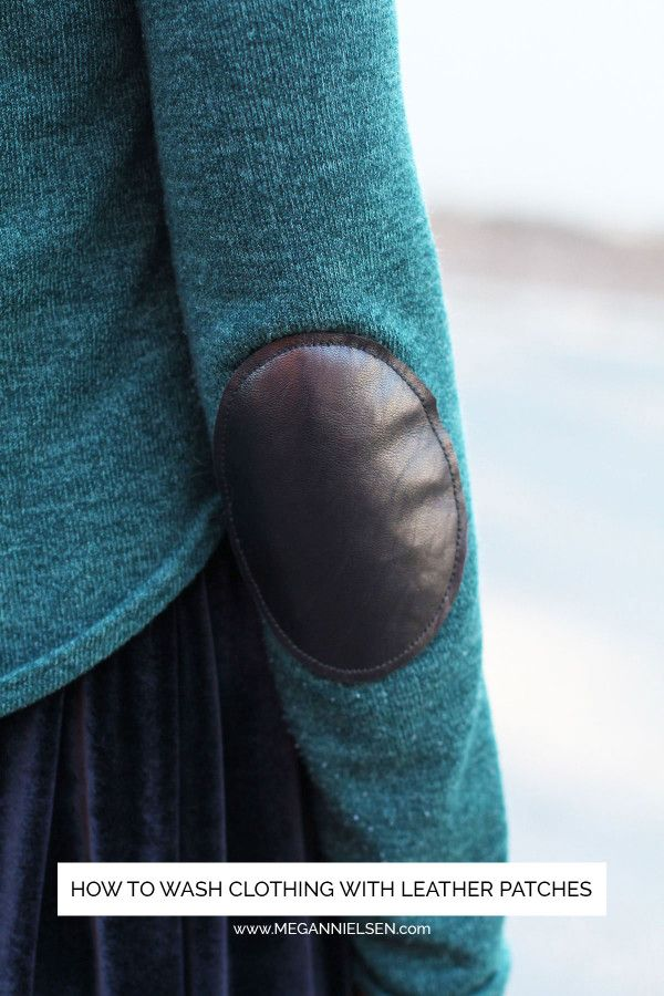 megan nielsen design diary: HOW TO WASH CLOTHING WITH LEATHER PATCHES // REVISITED